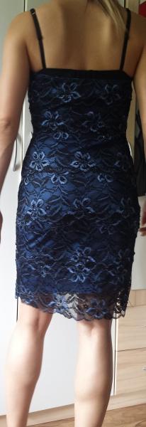 Onyx Nite - ONYX Nite Kleid, Spitze und Pailletten, (blau/schwarz ...
