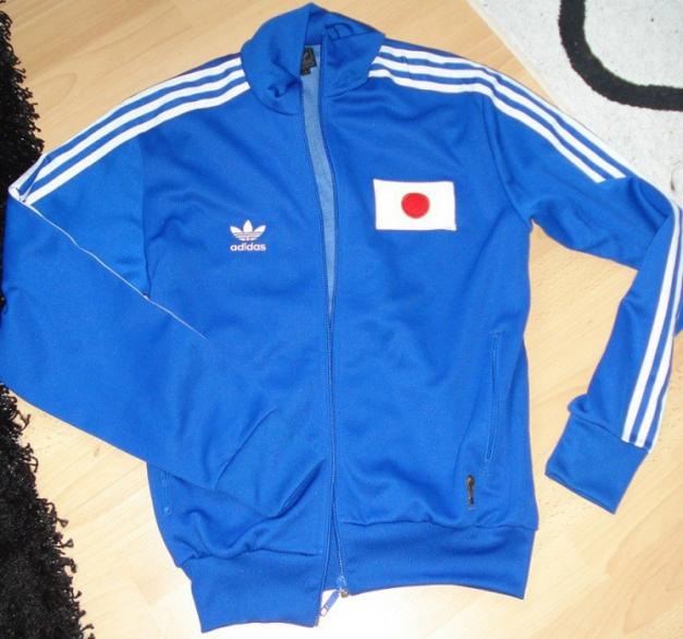 original Japan Nippon adidas Trainingsjacke blau