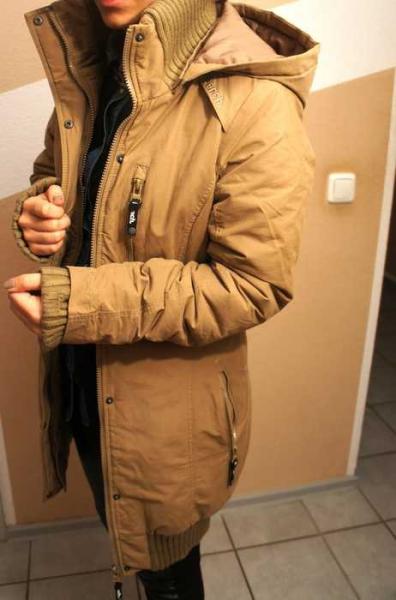 Bench Razzer Parka Mantel Winterjacke Damen beige XSS
