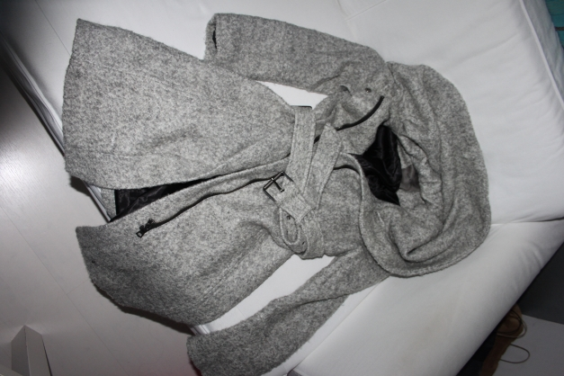 Zara mantel grau meliert