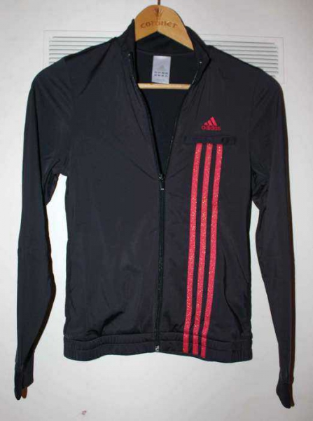 adidas jacke schwarz mit roten streifen