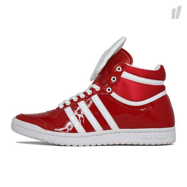 adidas schuhe rot weiß lack