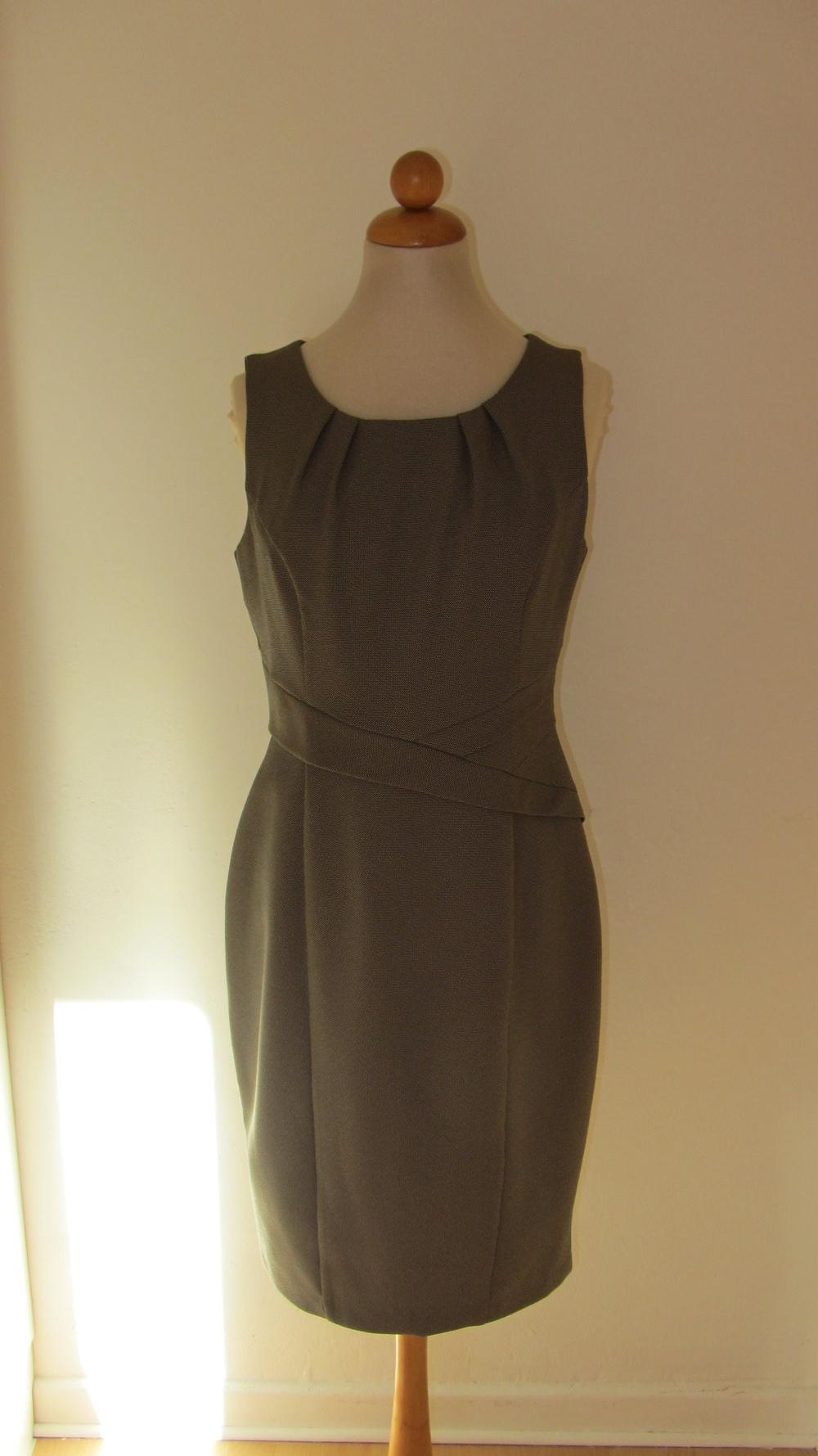 Abend-Kleid 38 - schmale 40 S M grau vintage-look retro stark ...