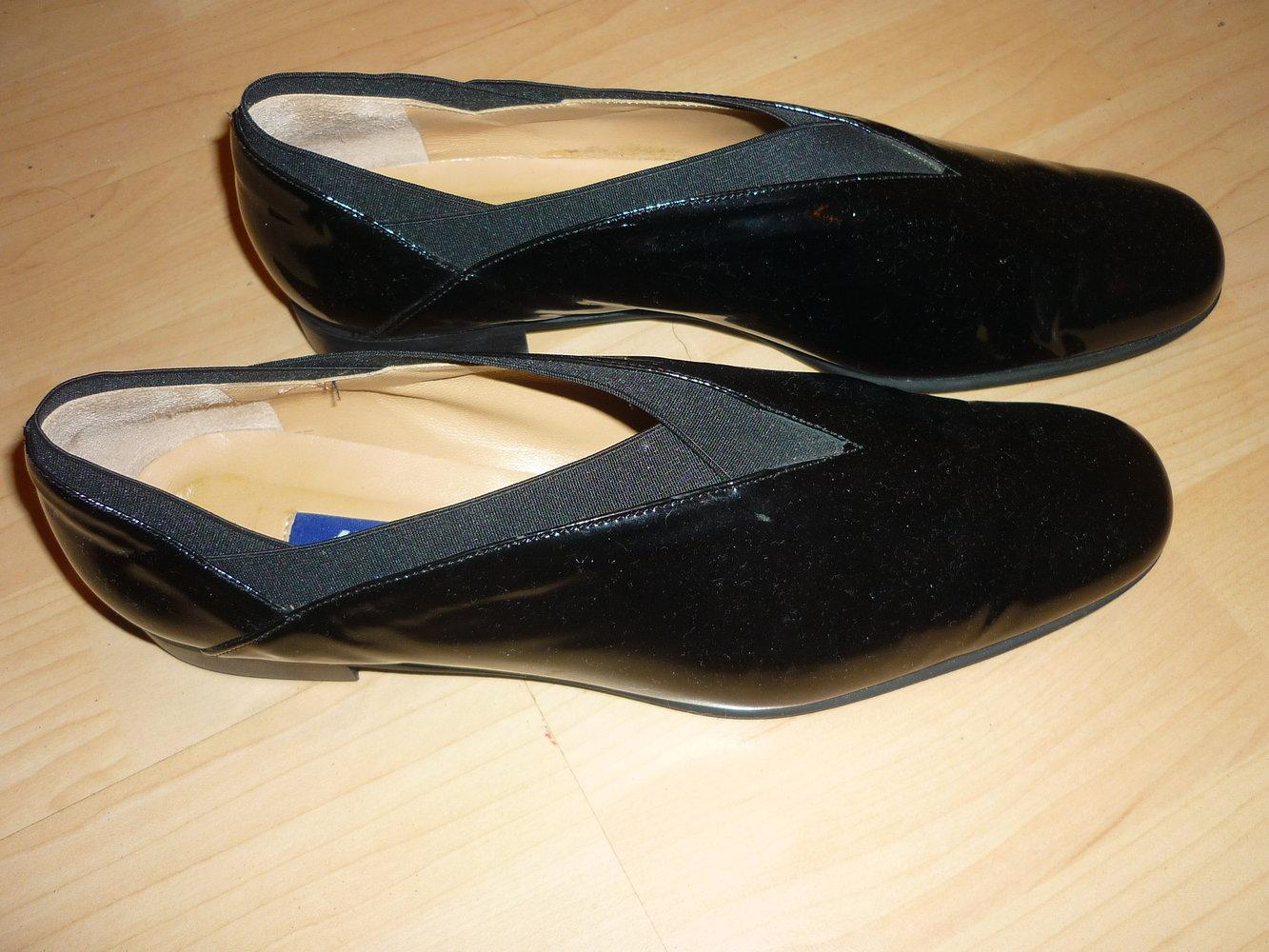 sale retailer 9caa0 b8235 Lavorazione Artigiana Kämpgen, Handmade, Schuhe, Made in Italy, schwarz  Lack, Größe 39