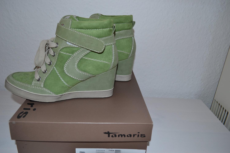 wholesale dealer fff94 c5e2a Tamaris Schuhe, Sneakers mit Keilabsatz, Größe 38, grün