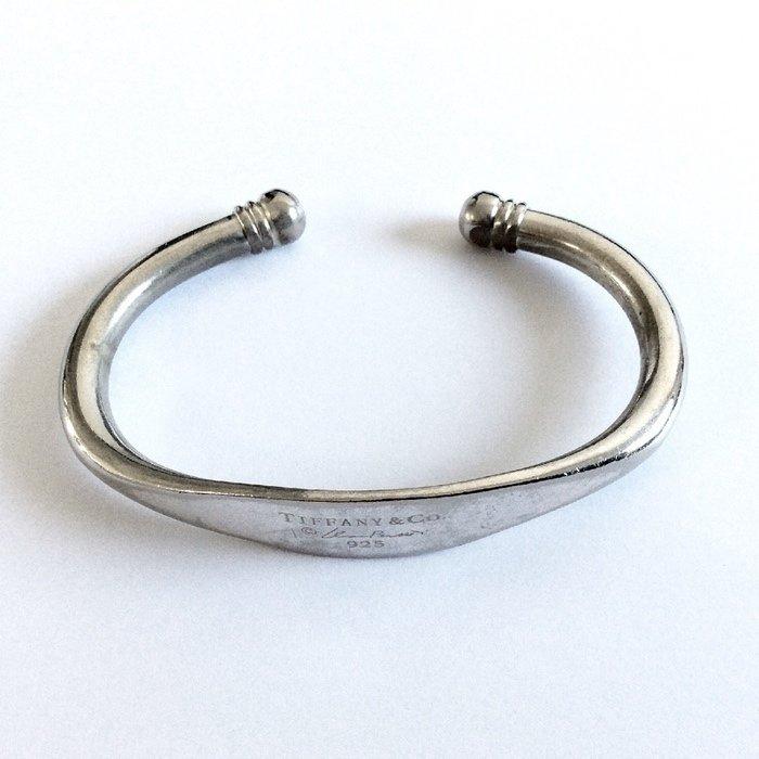7511887f0 ... Tiffany & Co 1997 Elsa Peretti Signature Sterling Silver Cuff Bracelet  Very Rare ...