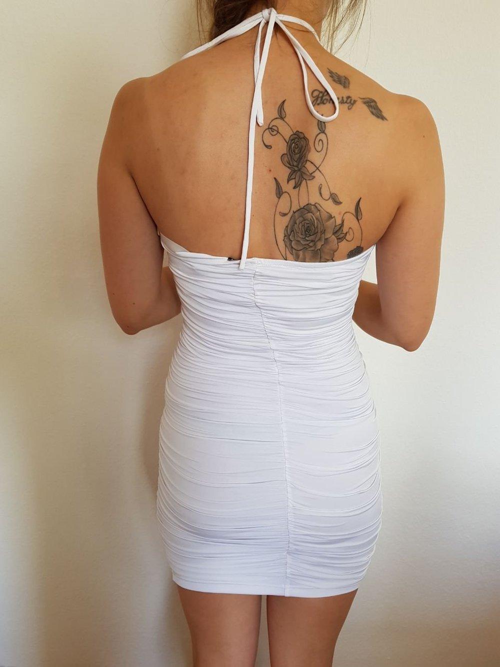 lowest price 2b45c bef2a Weißes Kleid schulterfrei