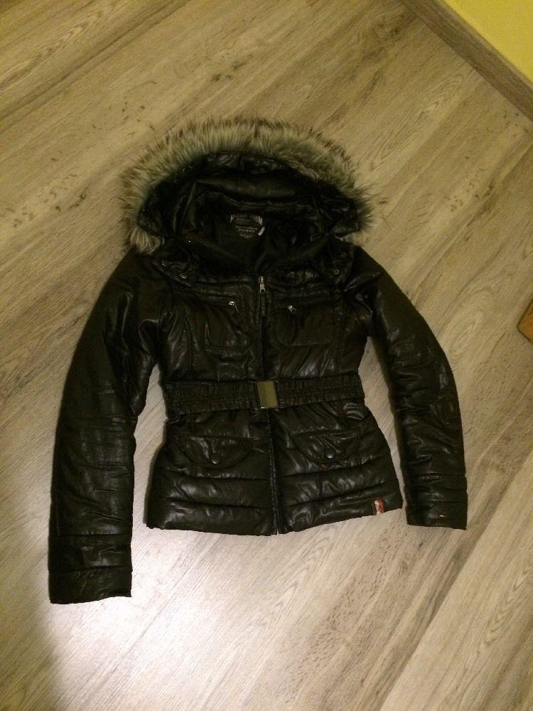 großer Verkauf 7838c 23045 Tommy Hilfiger Jacke schwarz Pelz Fell Kapuze
