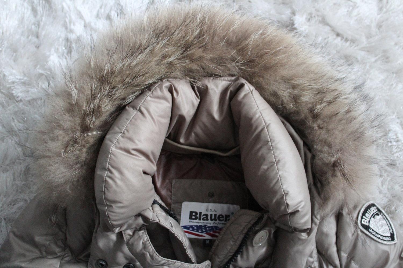 Blauer USA Jacke Daunenjacke Winterjacke XXL Pelz beige Gr. M