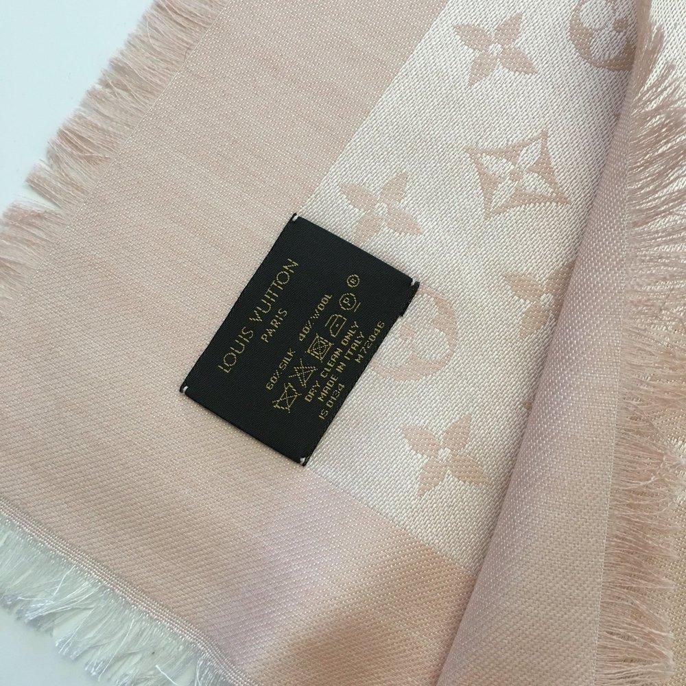 e58db059e9789 ... Monogram Denim Tuch Louis Vuitton rosa nude weiß Blogger ...