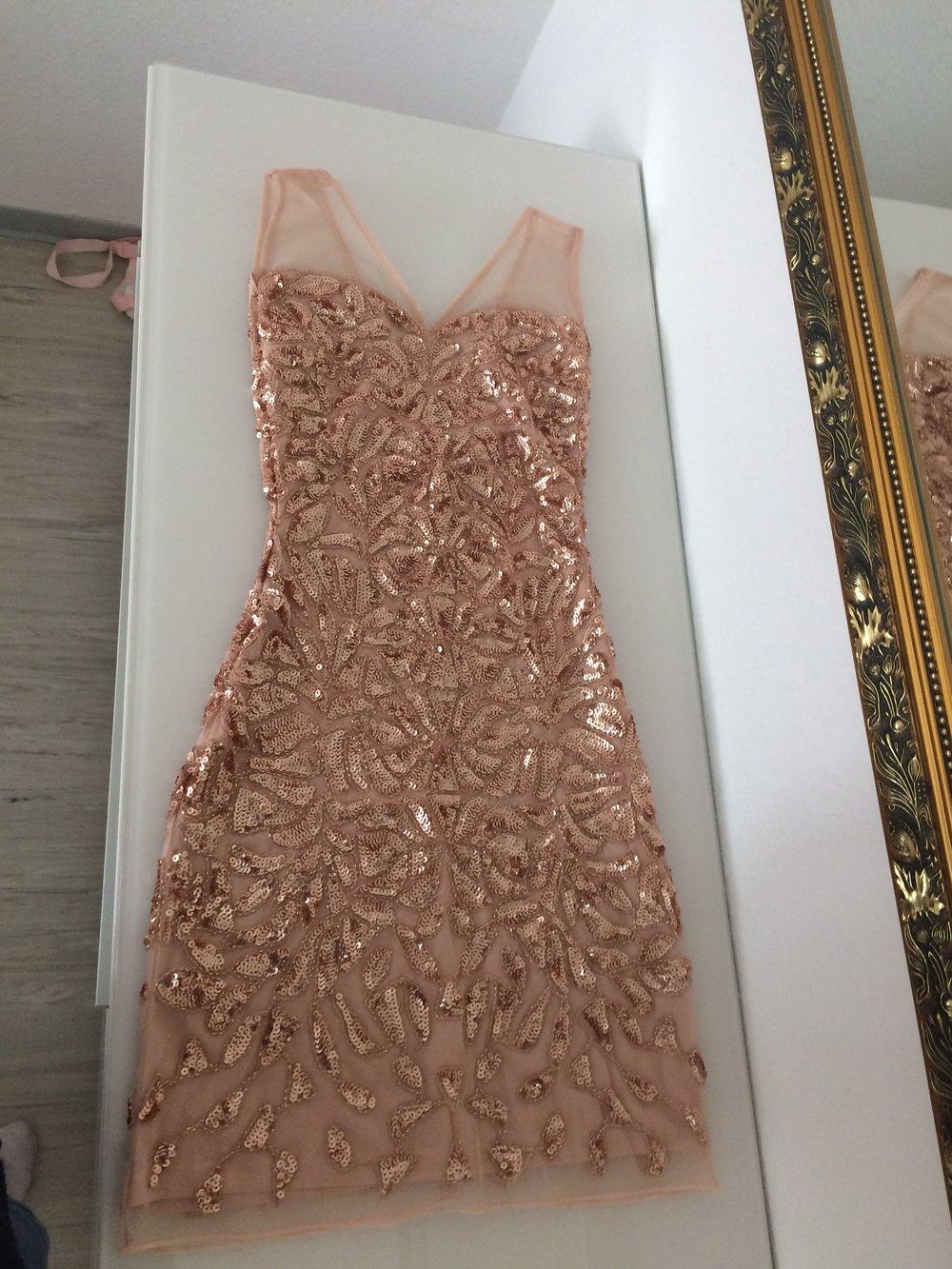 Kleid rose pailletten