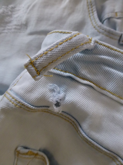 6f26bf788b27a5 Zara - Skinny Jeans weißblau Röhrenjeans hellblau Helle Jeans ...
