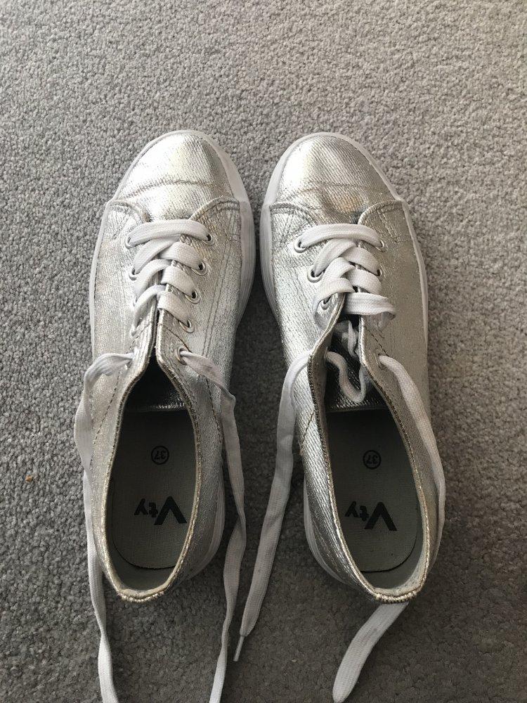Sneakerturnschuhe 37 Grösse Von Deichmann Silber WDH29YEI