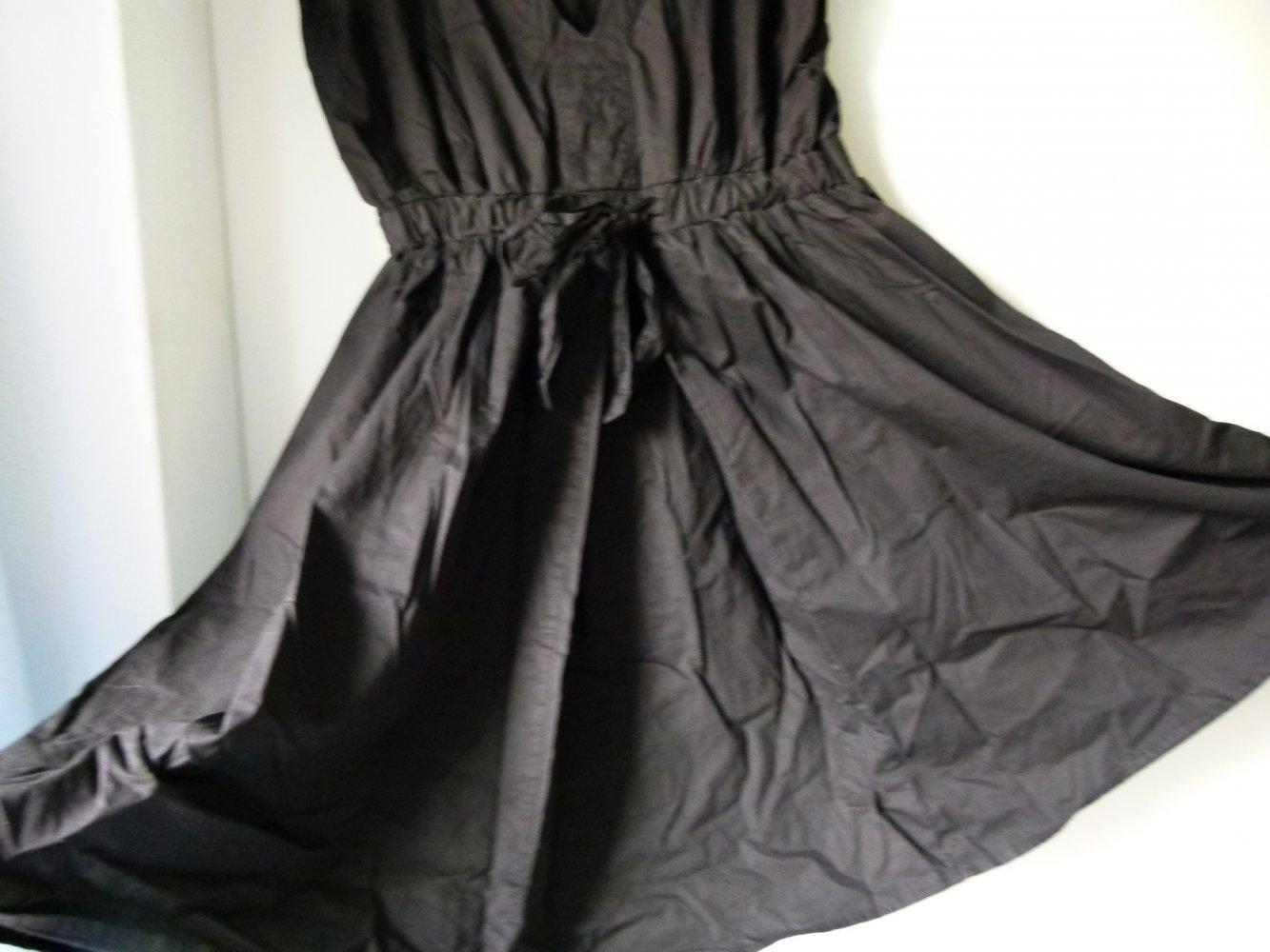 h&m festliche kleider schwarz mit rot