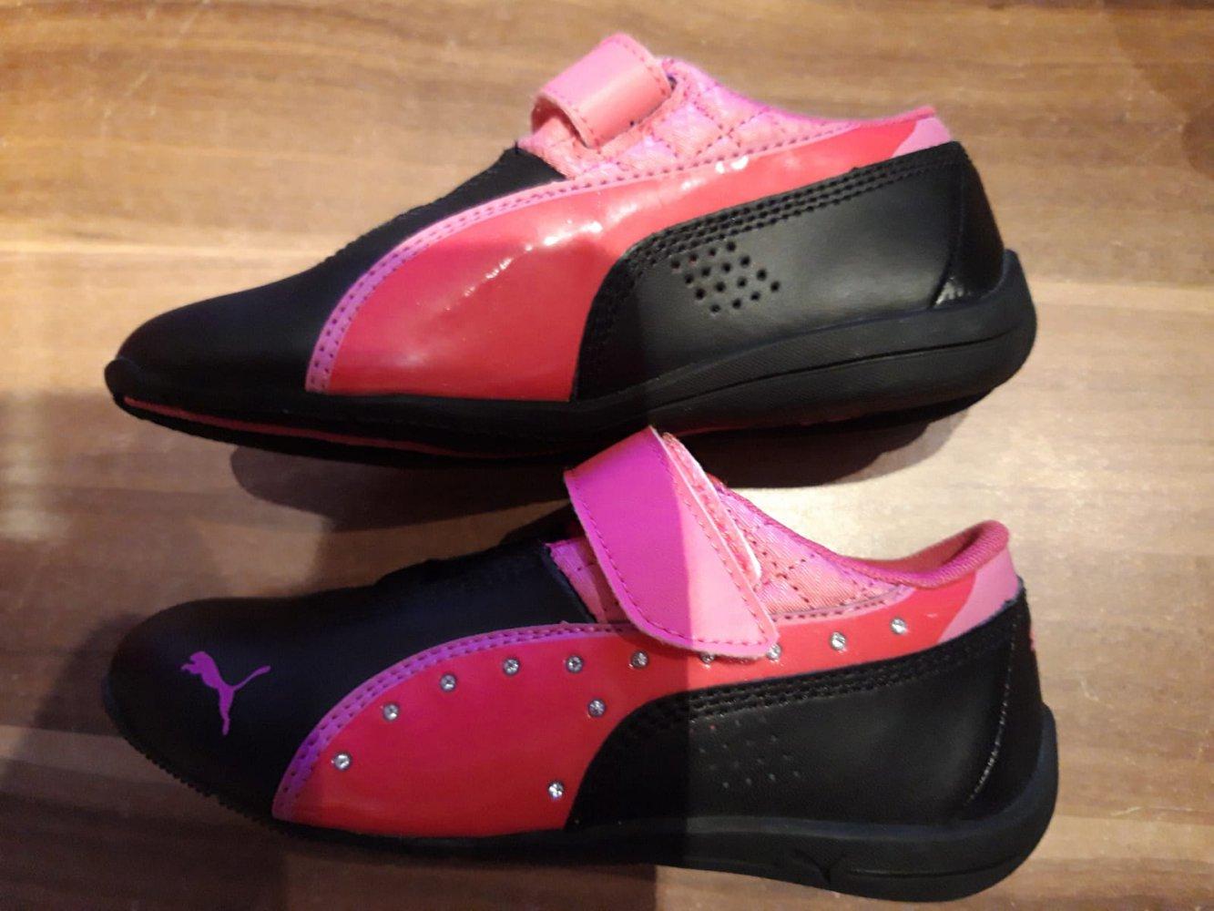 PUMA, GR. 29, schwarz pink, non marking, NEU