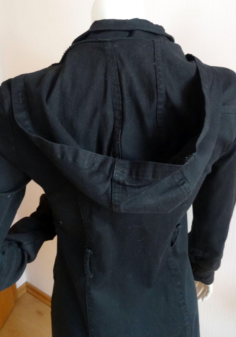 low priced 16945 f287d schwarze Übergangsjacke schmal geschnitten Madonna