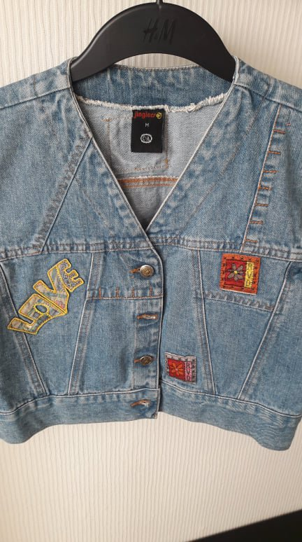 super popular dd1b8 48bcc Jeansweste Jinglers mit Patches