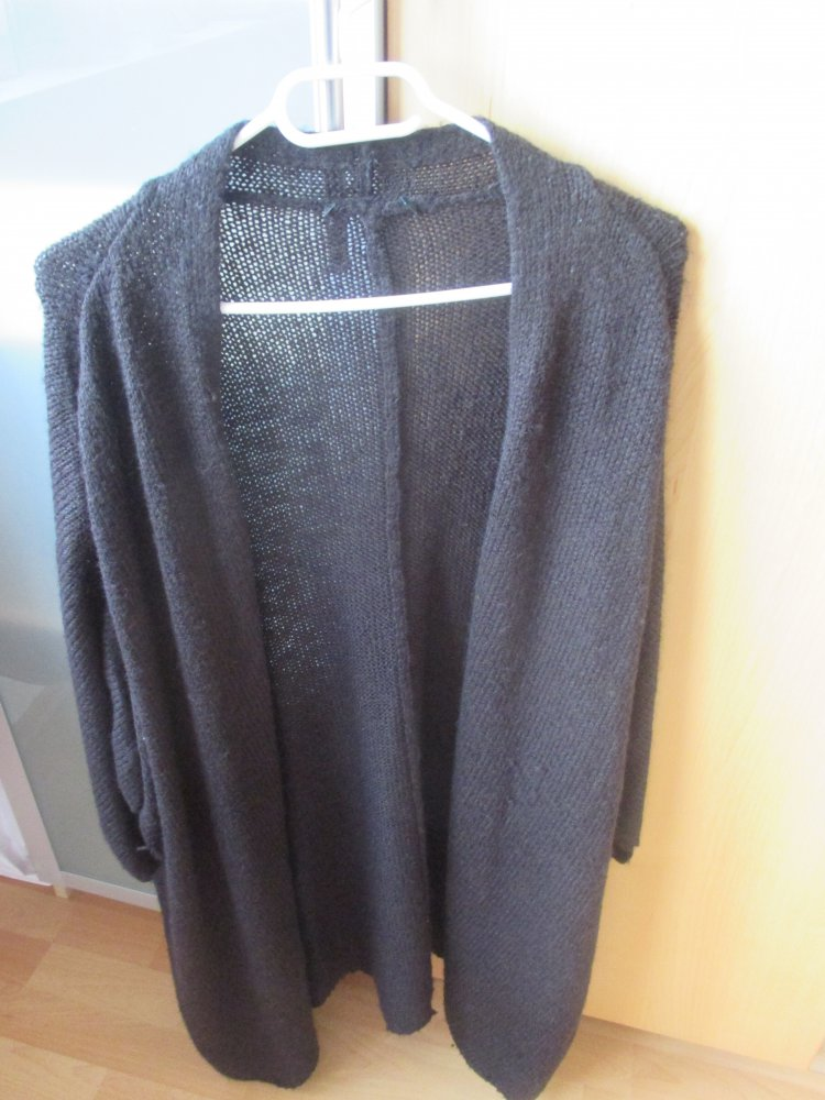 sneakers for cheap 7ac40 7f7be schwarze lange strickjacke gr. xl