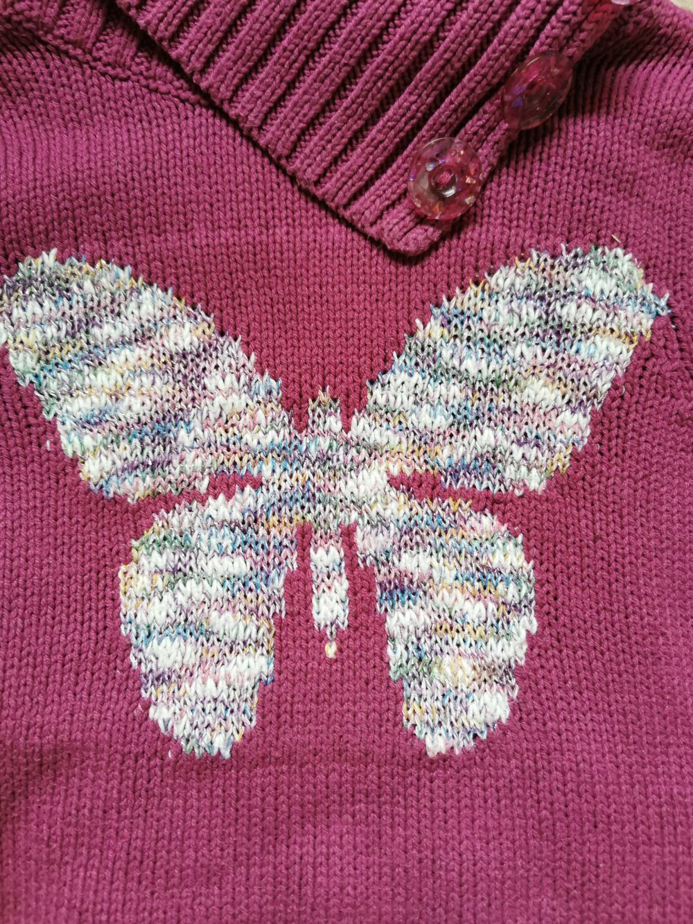 Mädchen Pullover Schmetterling gr. 110
