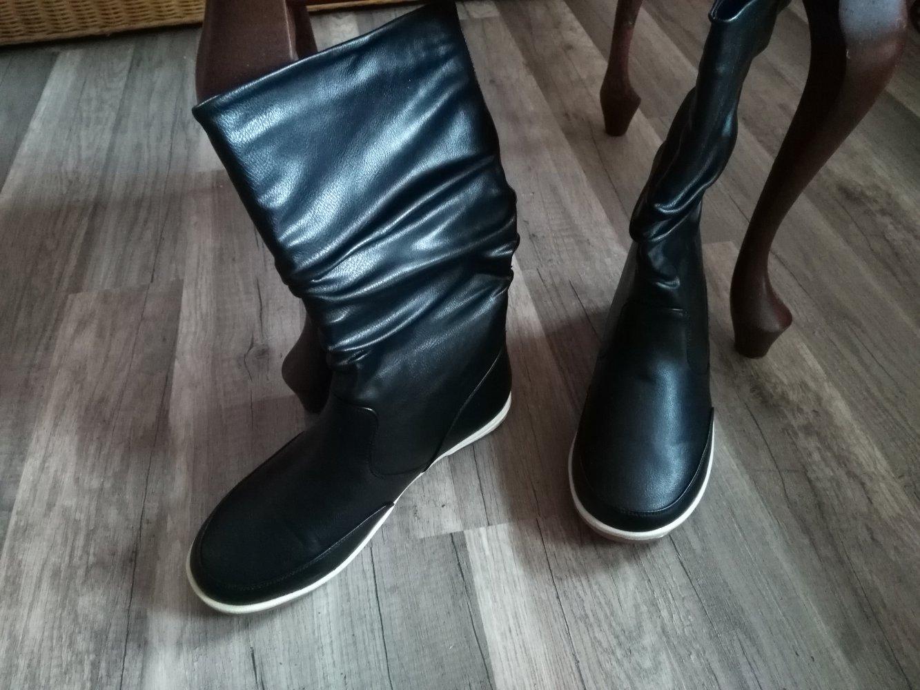 jumelles overknee stiefel schwarz 36