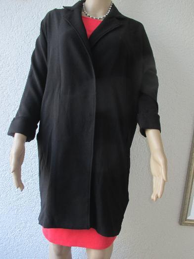 Kurzmantel Mantel Longjacke Jacke schwarz Gr 54 Neu