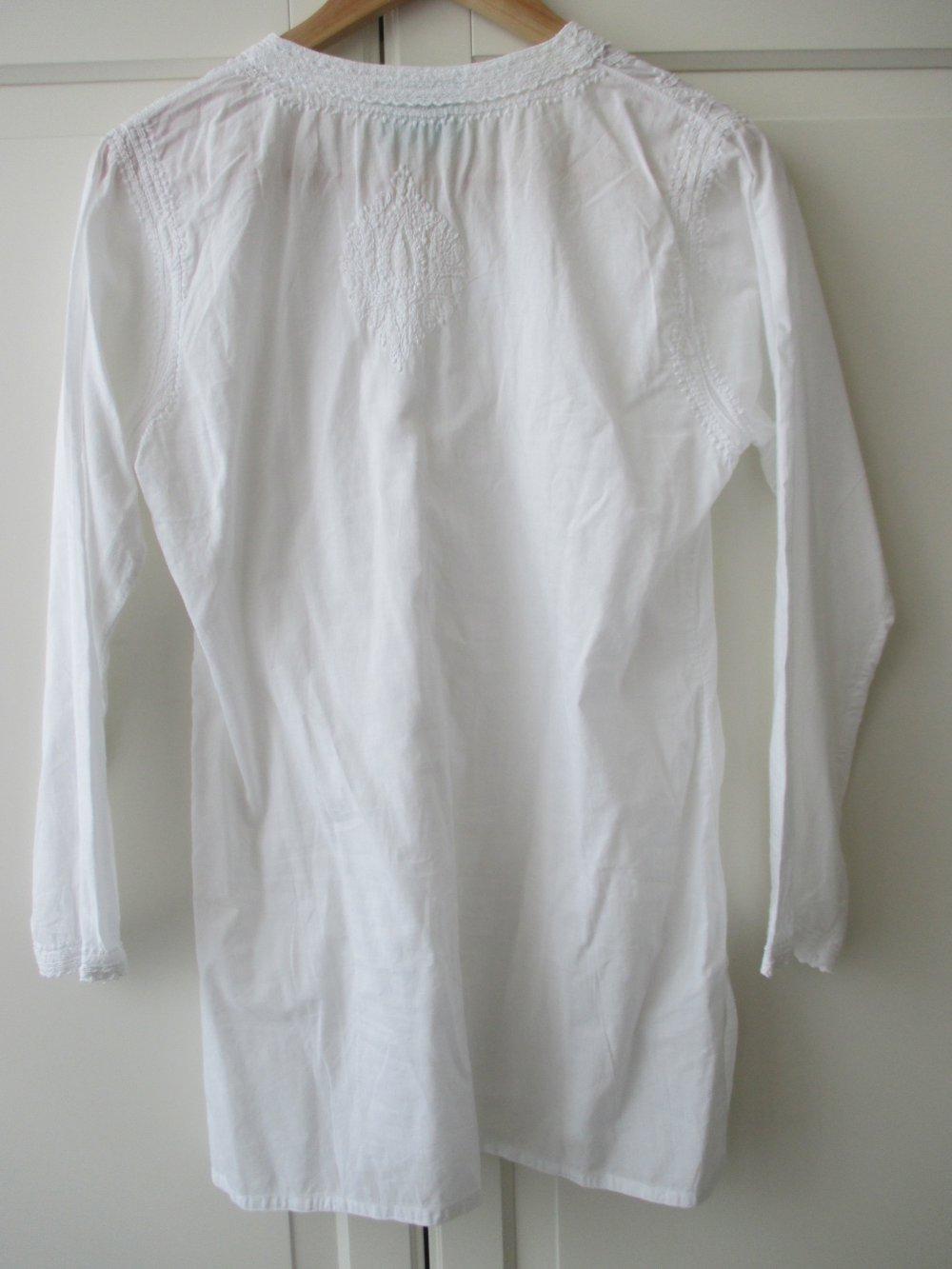 32a94bec1a71ea ... zuckersüße edle weiße Tunika von Die Spiegelburg, Ton - in Ton  Stickereien, ...