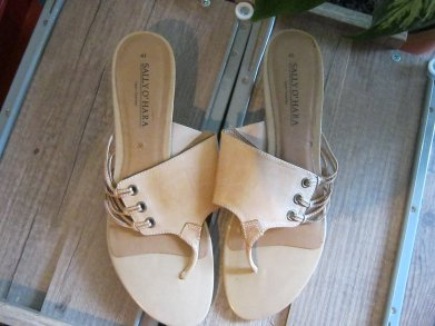 Trends für Dich Ethno Boho Style Keilabsatz Sandalette Feder